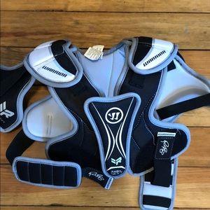 Warrior boys shoulder lacrosse pads.